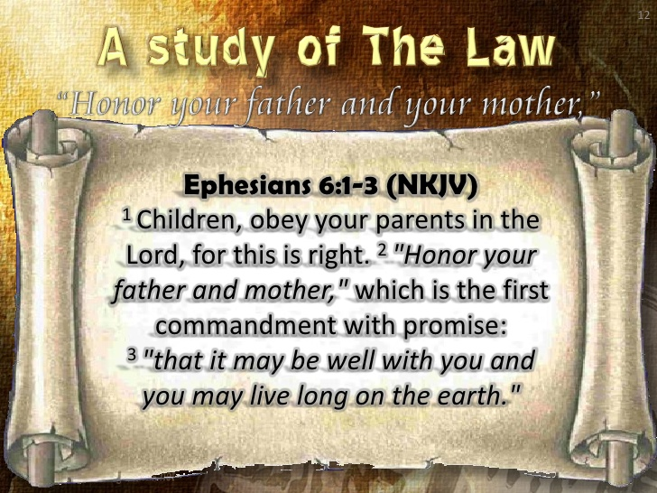 honor your father and your mother What my mother and my father both taught me in principles and in fact has greatly aided me through life i have avoided many pitfalls and enjoyed many benefits because of what my mother and father taught me the first eighteen years.